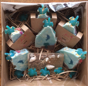 Sea Turtles Natural Handmade Vegan Soap Gift Pamper Hampers Large