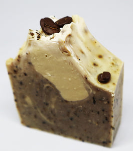 Cappuccino - Organic schibello ground coffee vegan soap