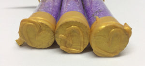 3 Lavender Bath Salts, test tube with cork stopper sealed with wax