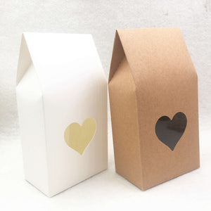 30pcs Brown/white Paper handmade Paper Bags