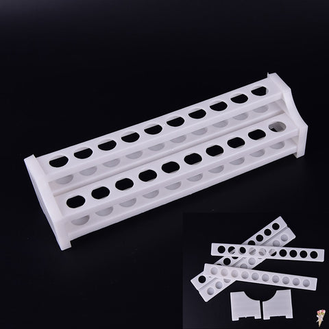 Plastic 20 Holes White Test Tube Rack