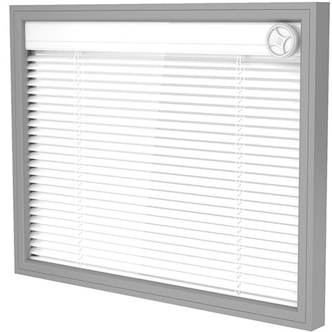 integral blind insulated x-ray glass