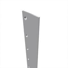 Lead Lined Stainless Steel Door Astragal