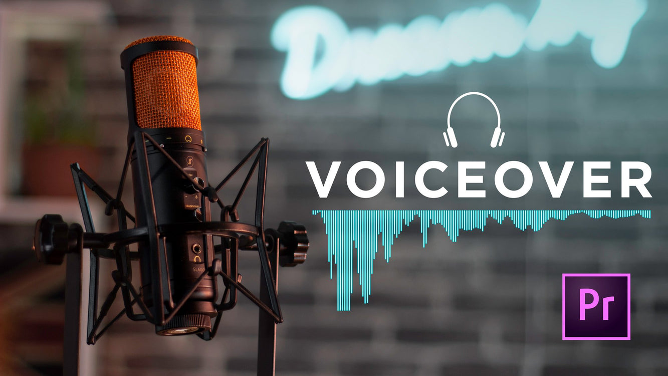 how to record a voice over in Adobe Premiere Pro