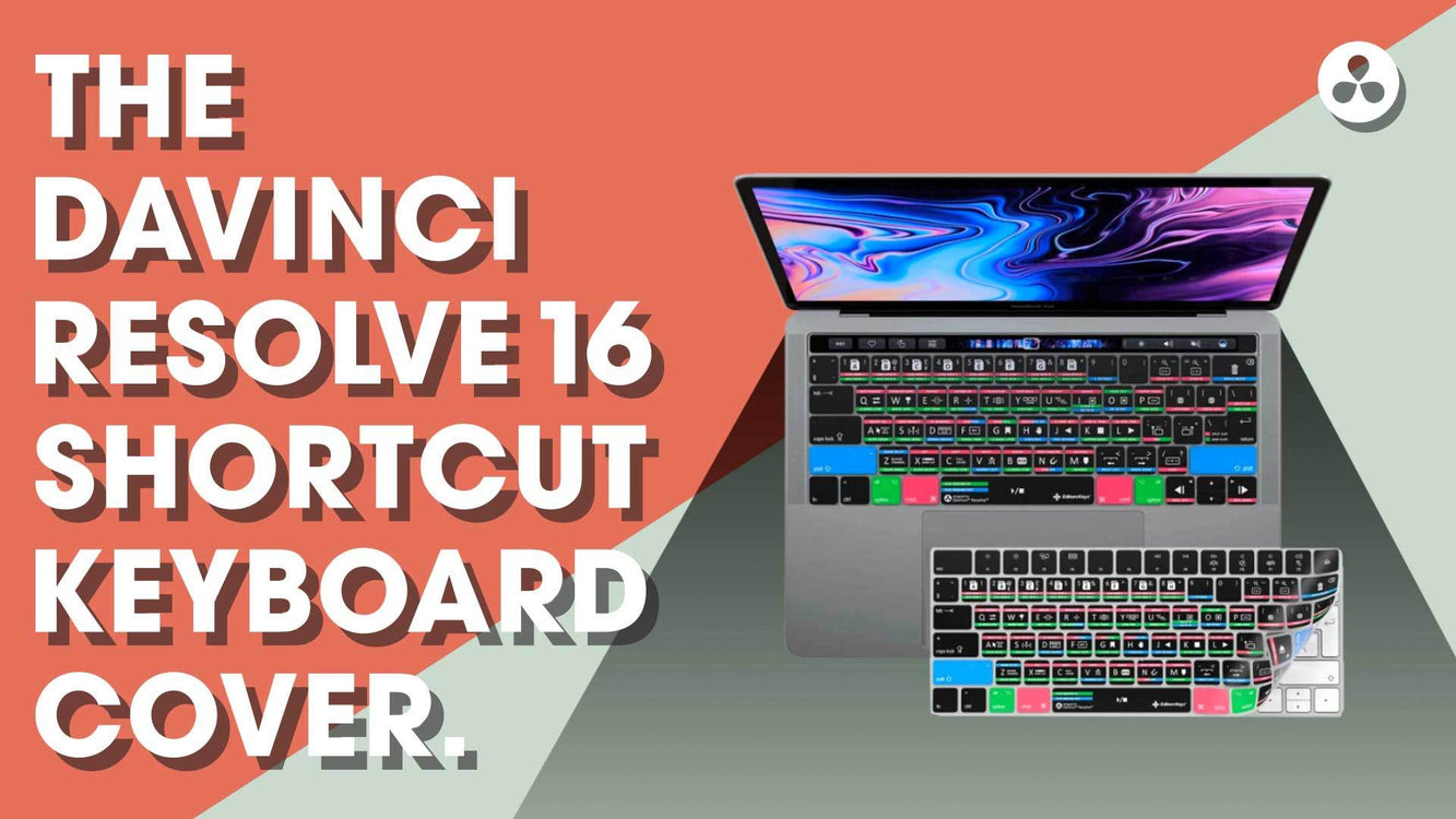 DaVinci Resolve 16 Keyboard Cover Skin
