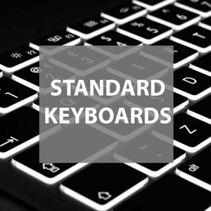 Standard keyboards for Mac or PC