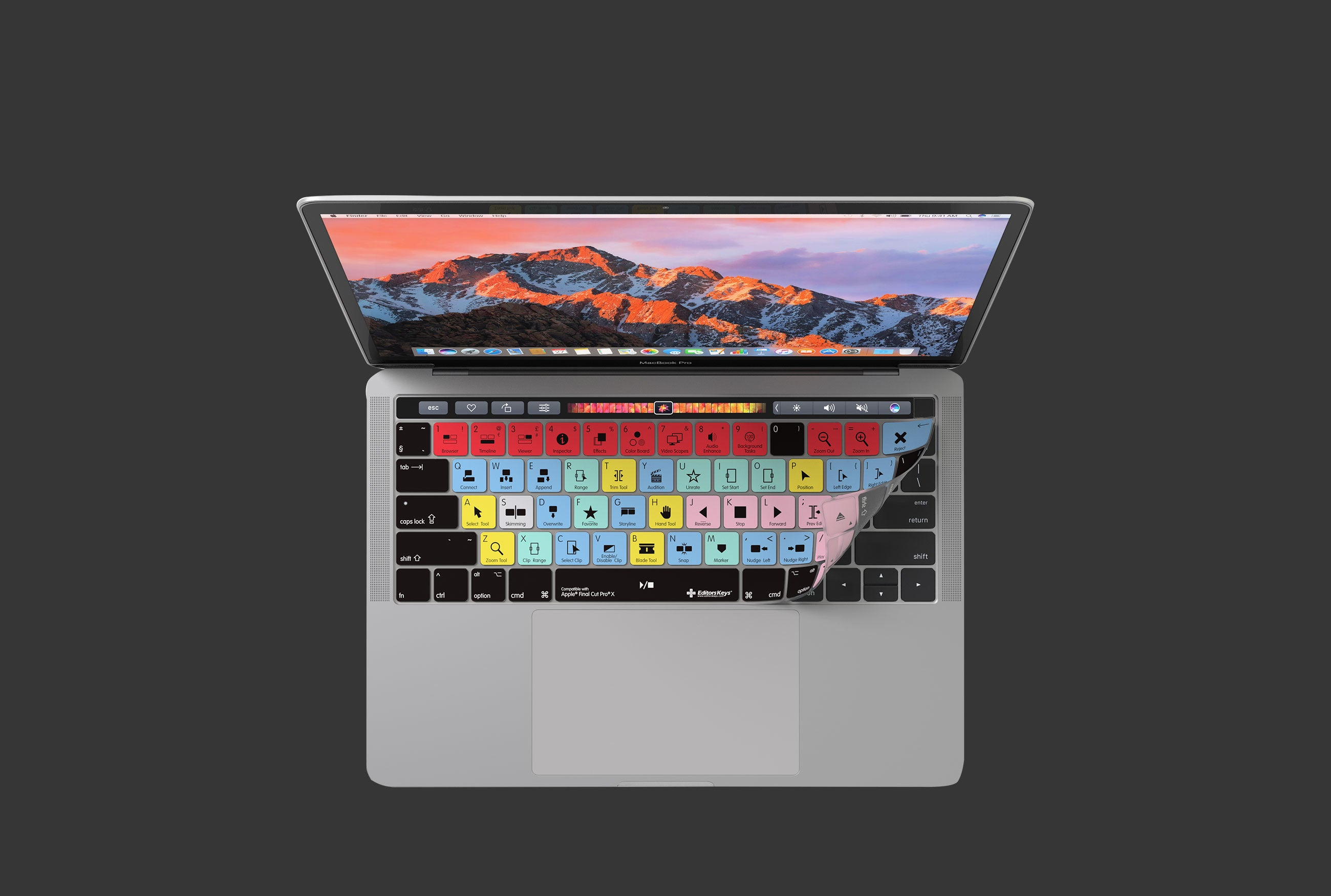 Shortcut Keyboard Covers for MacBook Pro