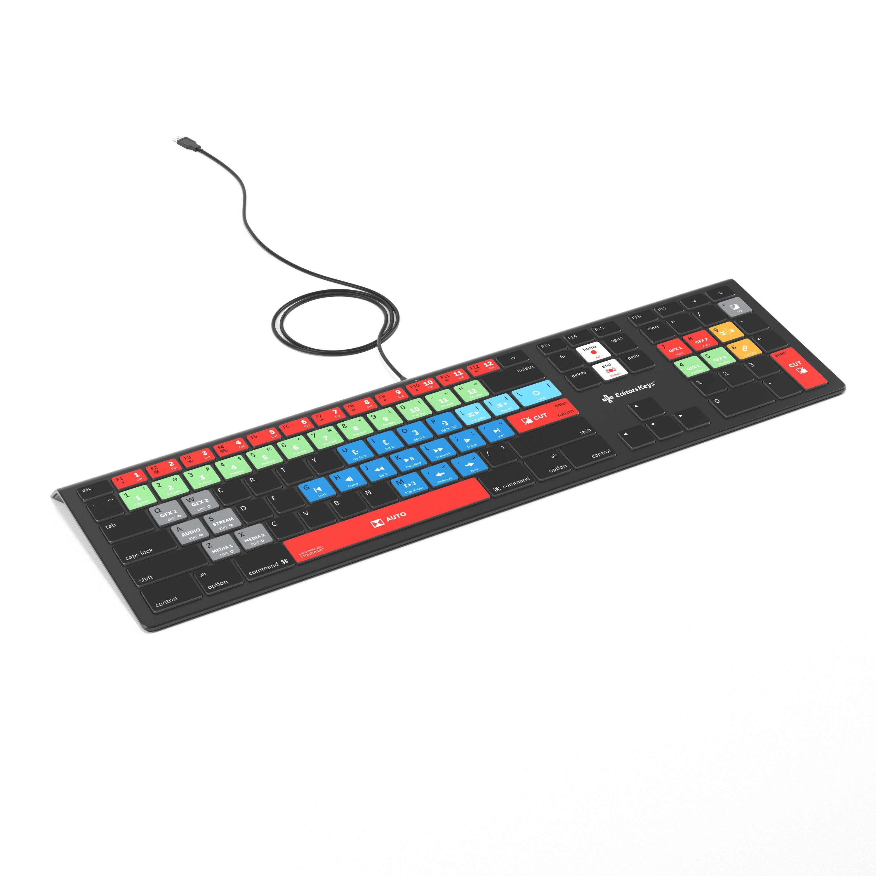 Livestream Keyboard - Backlit Mac