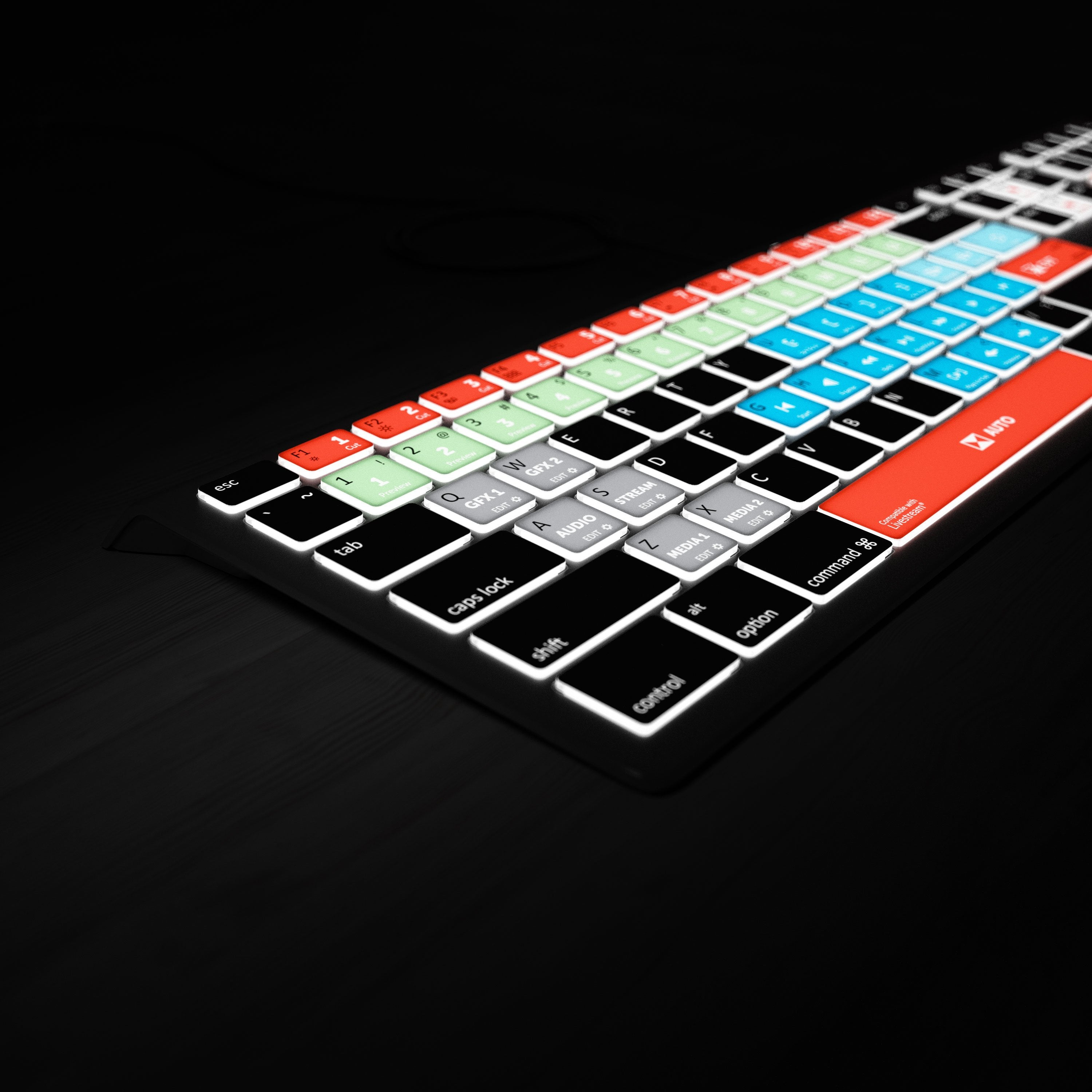 Backlit Livestream Keyboard