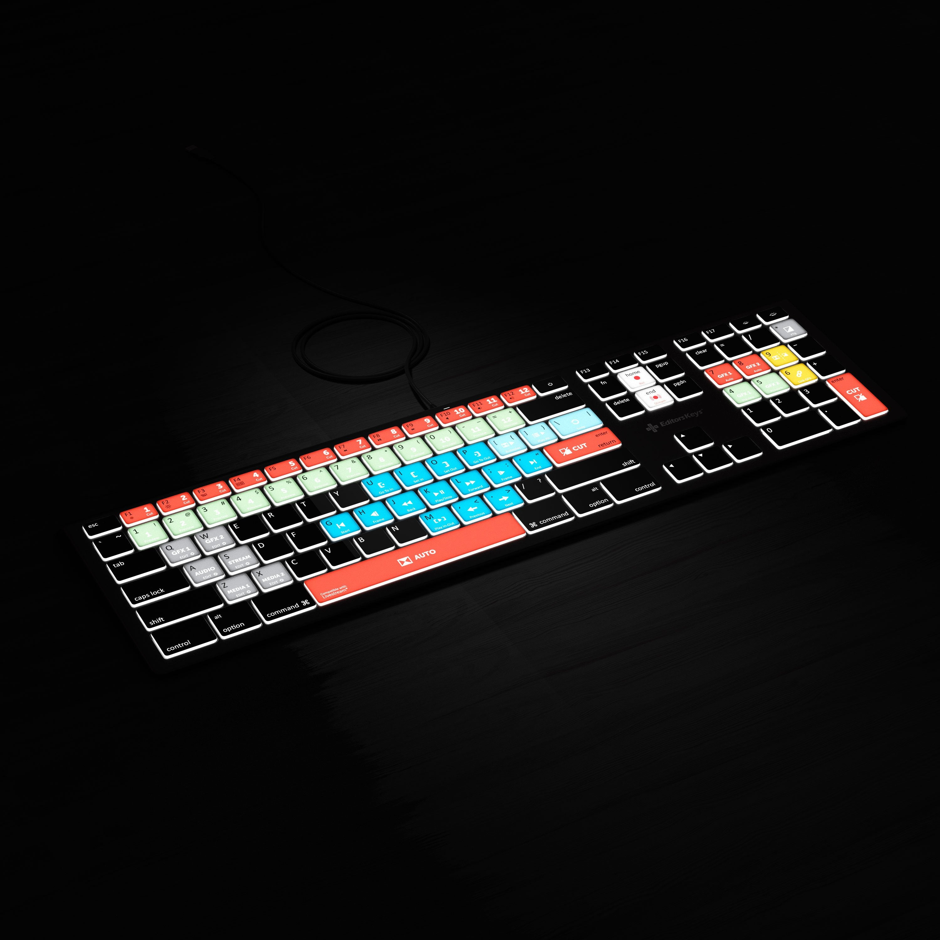 Backlit Keyboard for Livestream