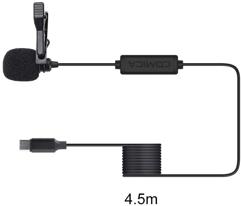 Comica Audio Lavalier Microphone for USB-C Smartphone (4.5m)