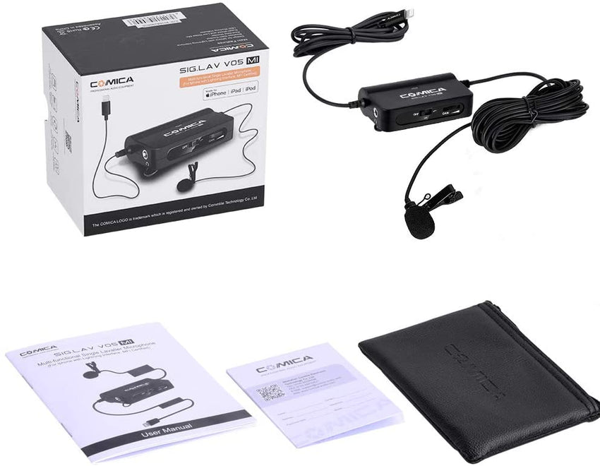 Comica Audio SIG.LAV V05 MI Lavalier Microphone for iPhone iOS