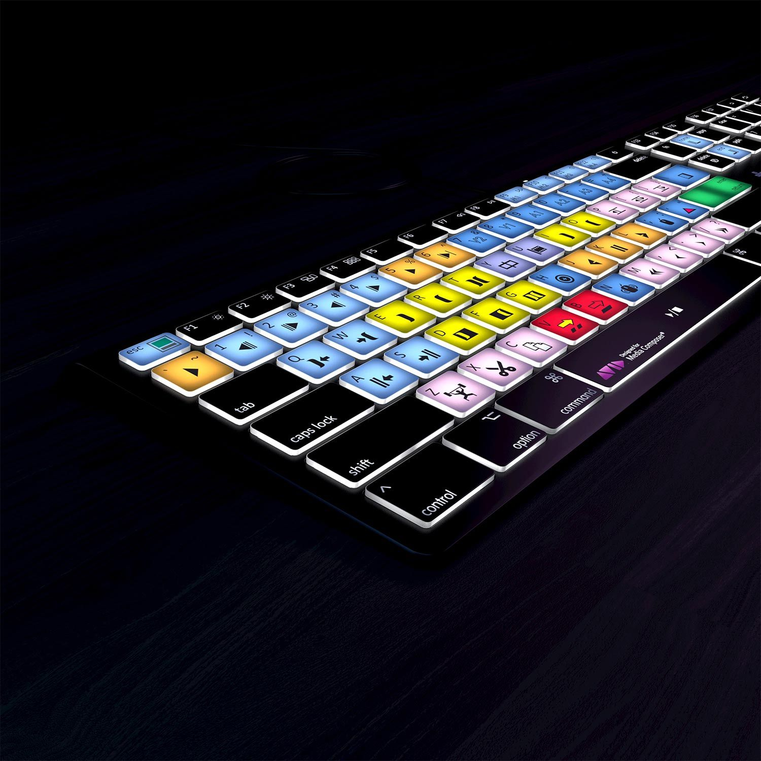 Avid Media Composer Keyboard - Backlit - For Mac or PC