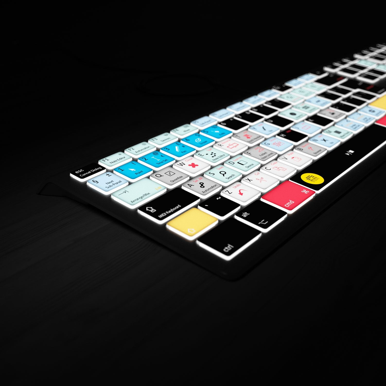 Lights on Backlit Keyboard for Bitwig