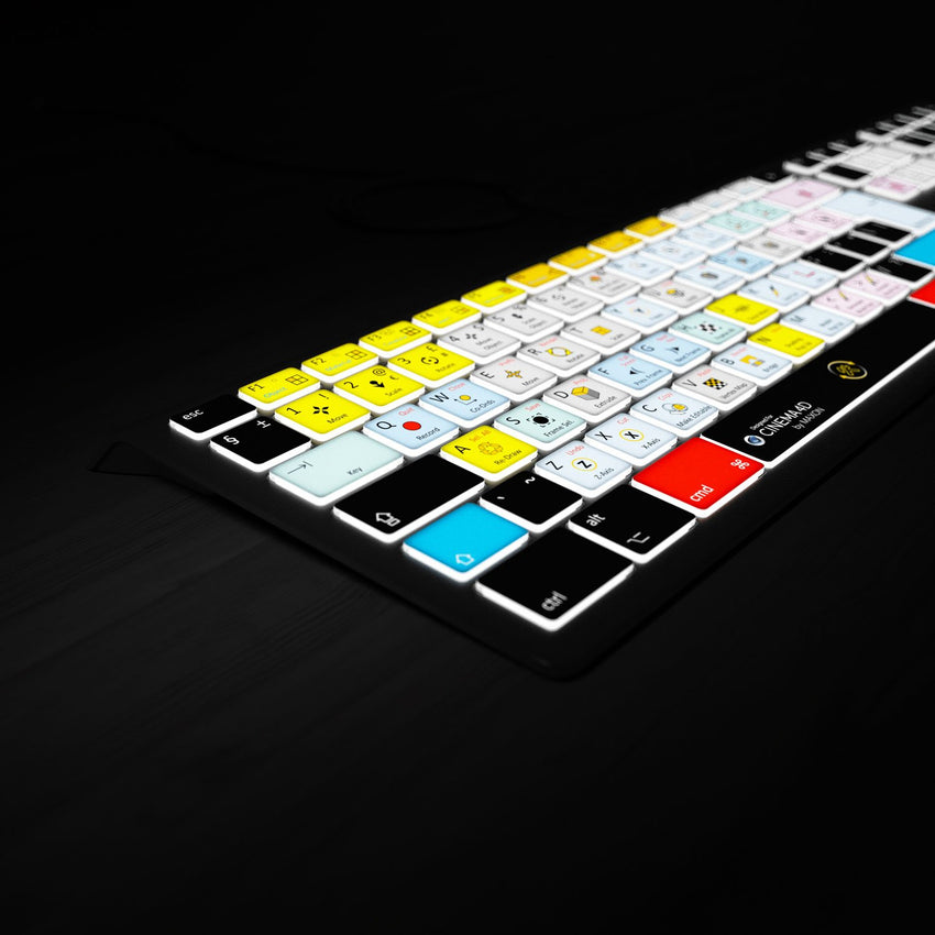 Cinema 4D Keyboard Backlit Lights on