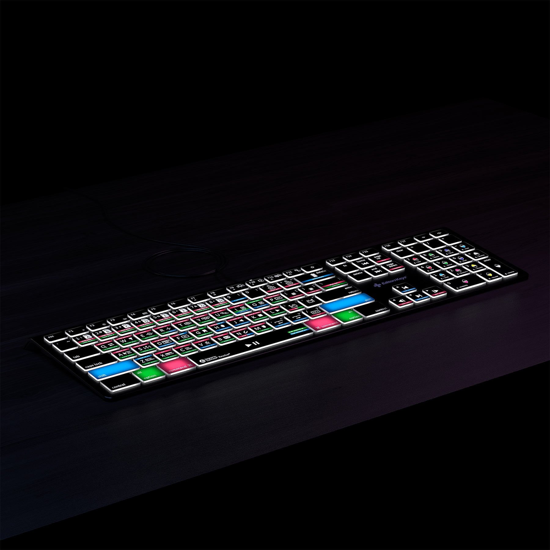 DaVinci Resolve 16 Keyboard - Backlit Mac or PC