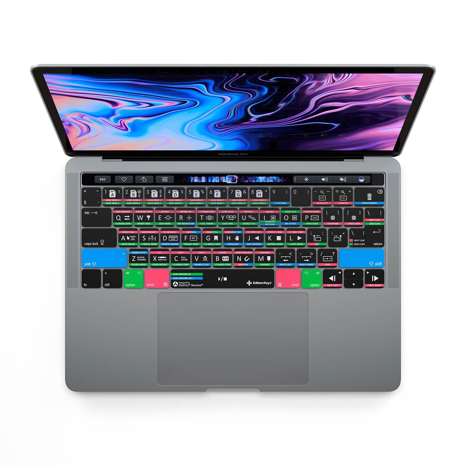 DaVinci Resolve Keyboard Covers for MacBook and iMac