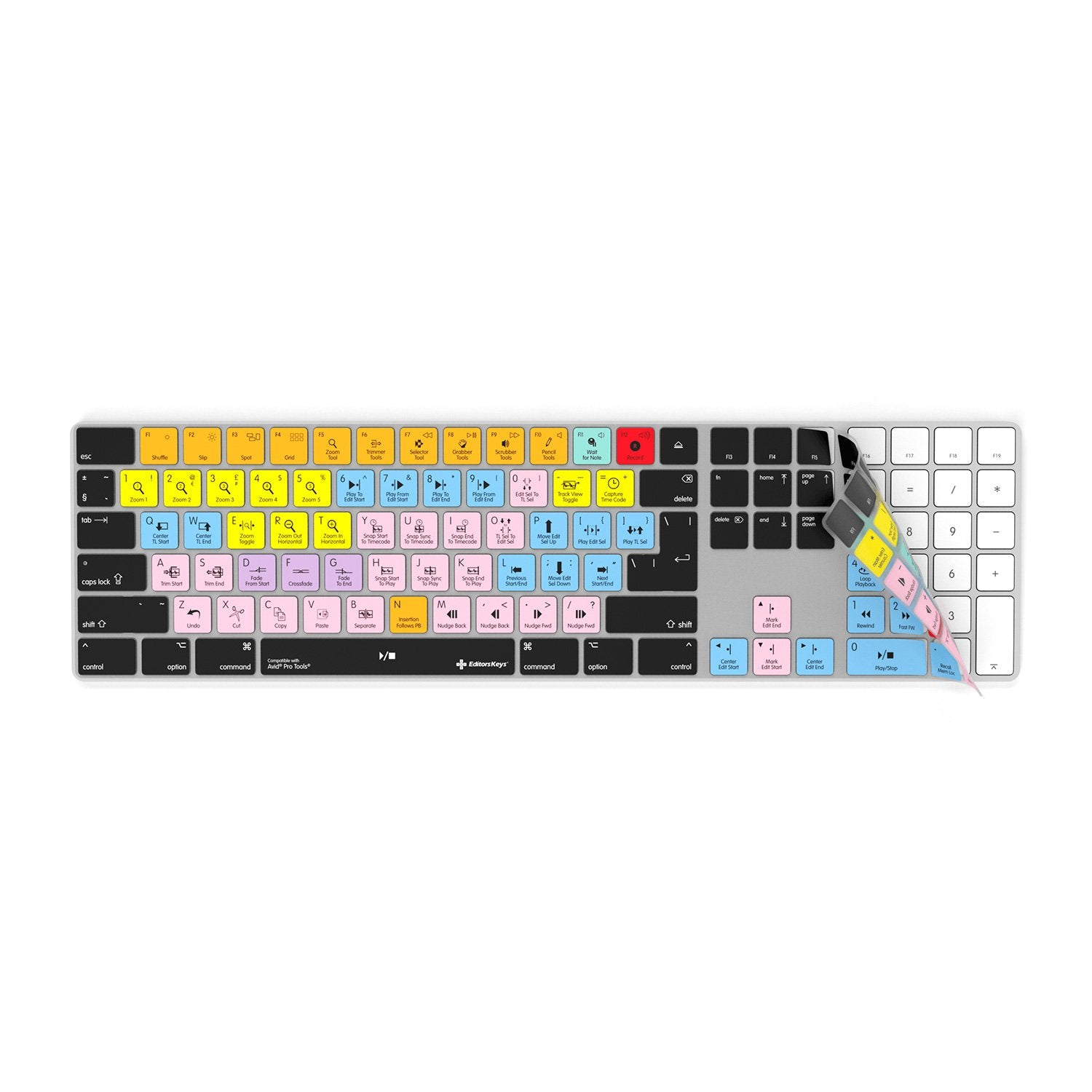 Pro Tools Keyboard cover for Apple Magic Keyboard with Numeric Pad