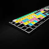 Backlit Presonus Studio One keyboard with backlights on
