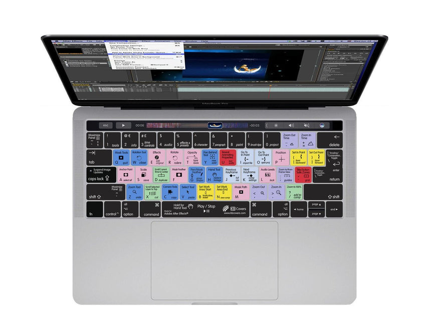 Adobe After Effects Keyboard Covers for MacBook and iMac