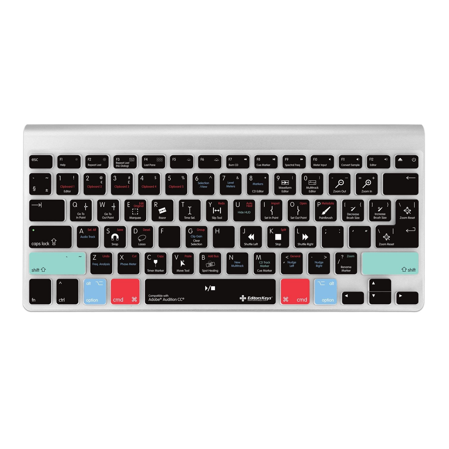 Adobe Audition Keyboard Covers for MacBook and iMac