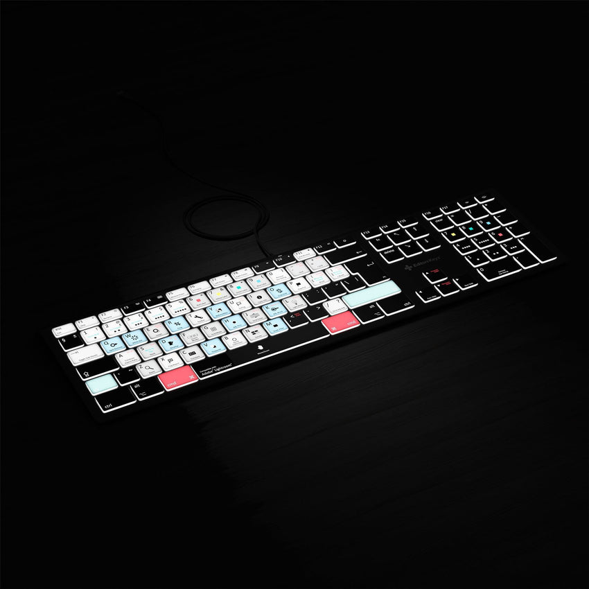 Adobe Lightroom Keyboard - Backlit Mac or PC
