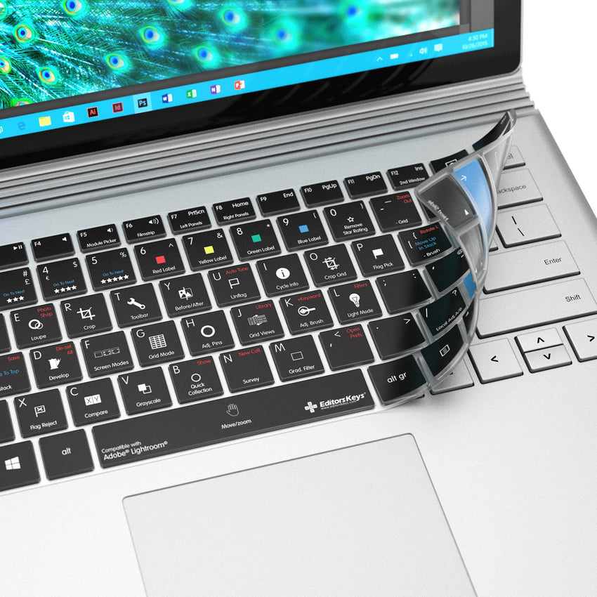 Adobe Lightroom Keyboard Covers for Microsoft Surface Line