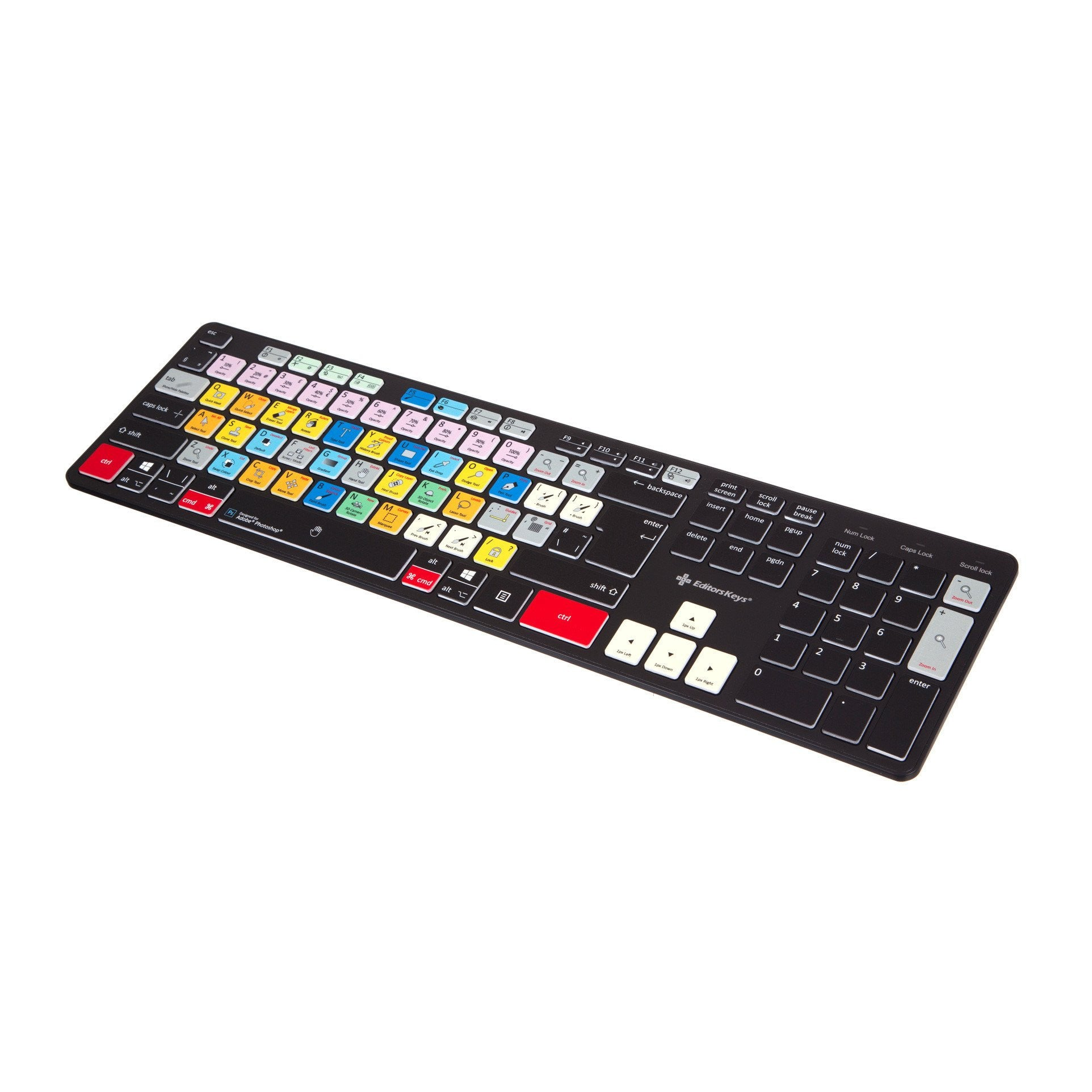 Adobe Photoshop Keyboard - Slimline Wired/Wireless