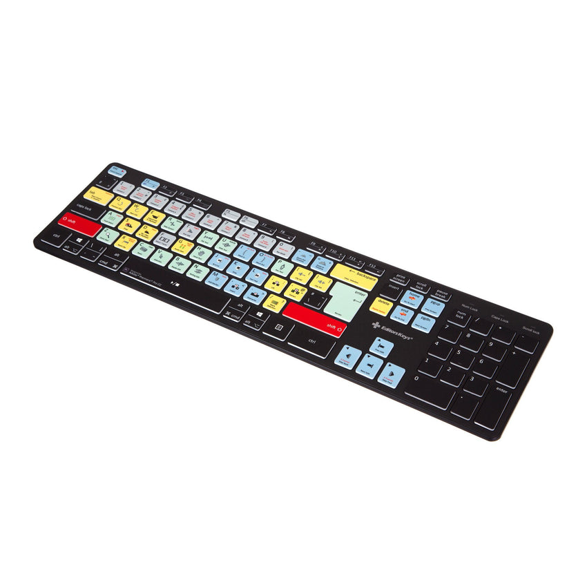 Adobe Premiere Pro Keyboard - Slimline Wired/Wireless