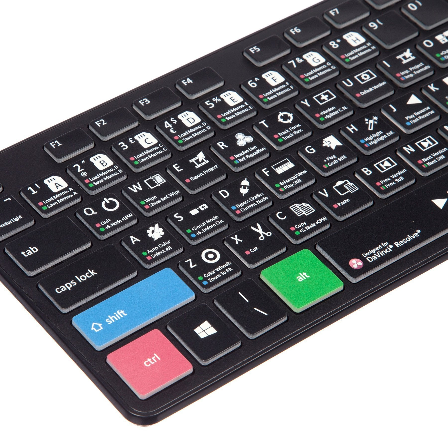 DaVinci Resolve Keyboard - Slimline Wired/Wireless