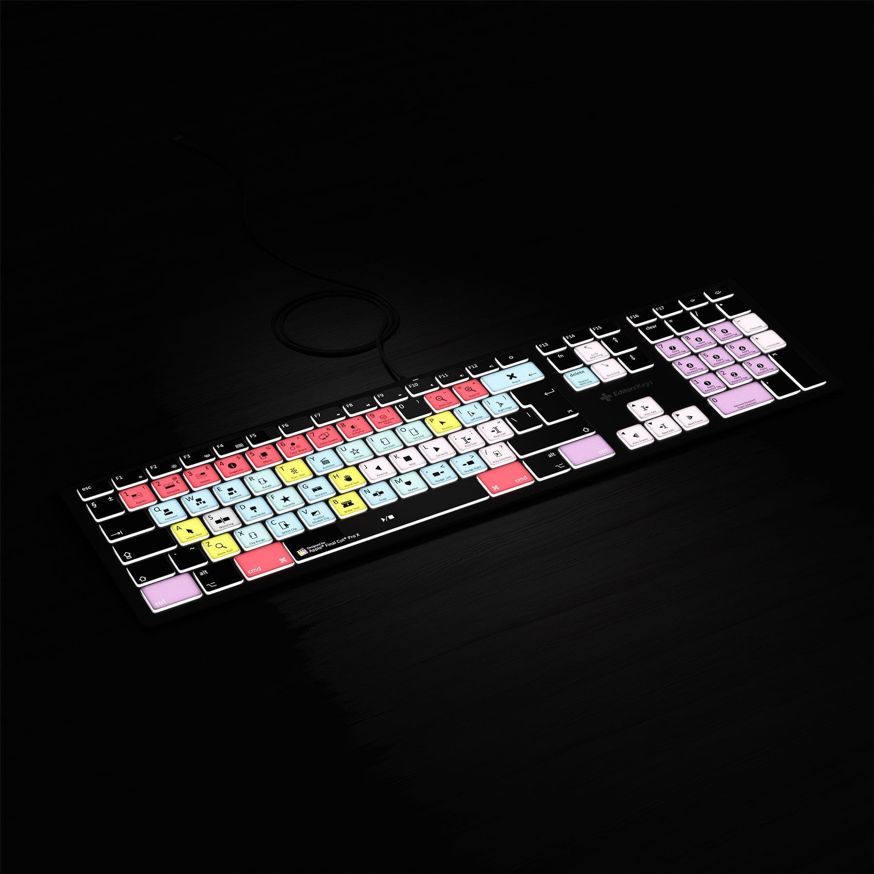 Final Cut Pro X Keyboard - Backlit Mac