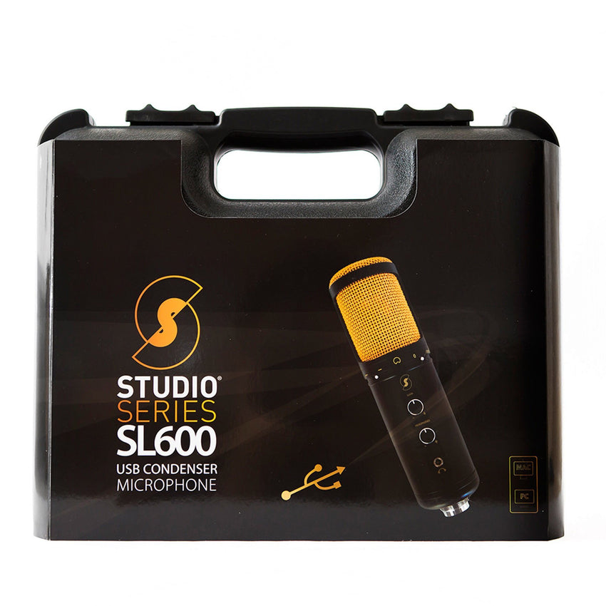 SL600 Condenser USB Microphone with Live Monitoring