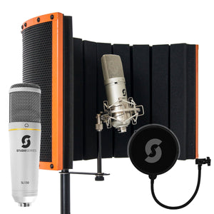 Vocal Booth Home, USB Microphone & Pop Filter Bundle