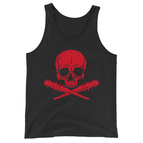 Jolly Roger Tank | Red on Black
