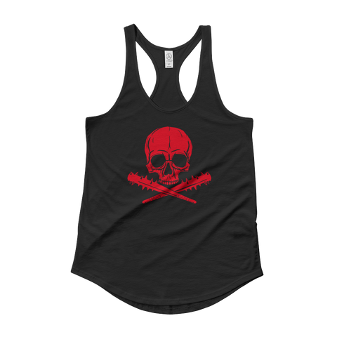 Jolly Roger | Lady Tank, Red on Black