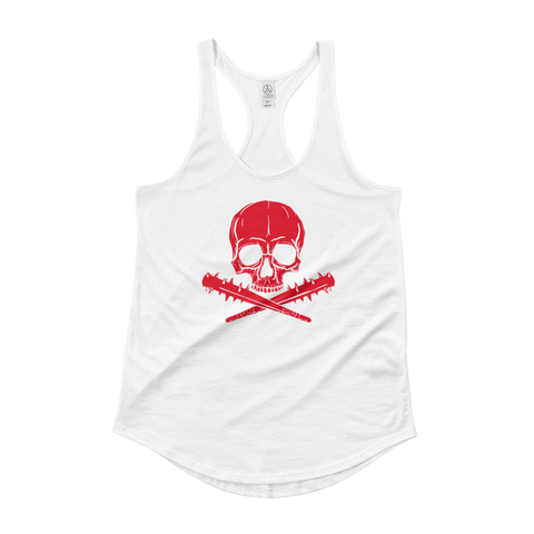 Jolly Roger | Lady Tank, Red on White