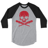 Jolly Roger Raglan | Red Print