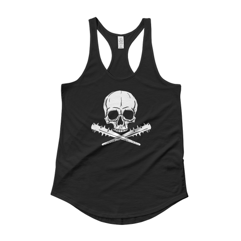Jolly Roger | Lady Tank, White on Black