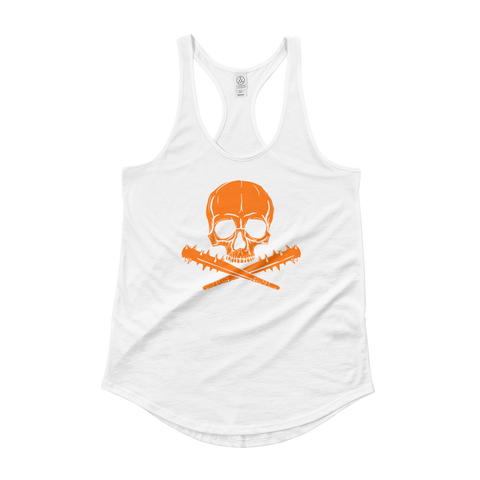 Jolly Roger | Lady Tank, Orange on White