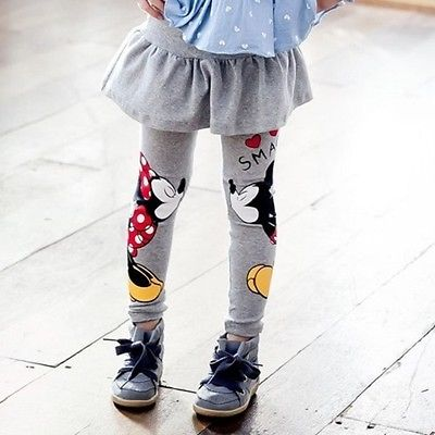 Girls winter warm Skirt-pants legging