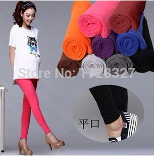 Women's Maternity Adjustable Stretch Full Ankle Length Cotton Legging