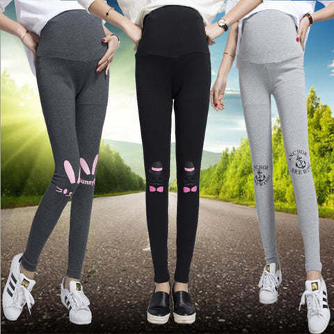 Cartoon Mouse/rabbit Maternity cotton Legging