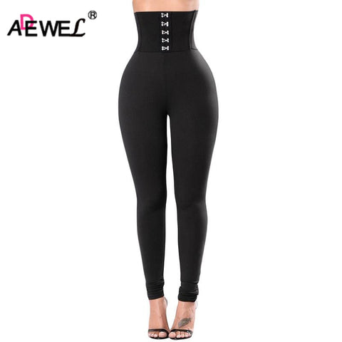 2018 Sexy High Waist Lace Up Leggings