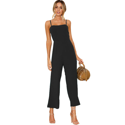 Sexy Hot Ankle-Length High Waist Jumpsuit