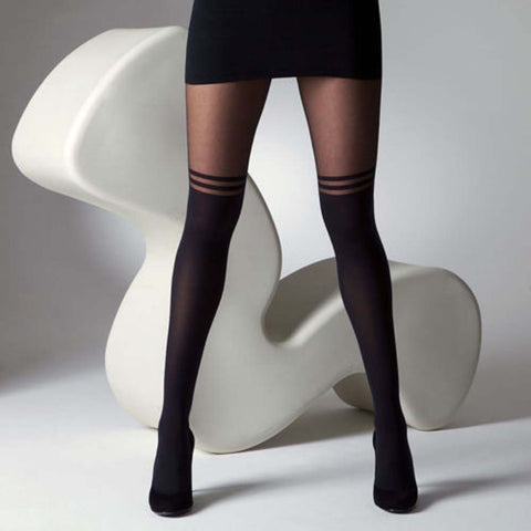 Hot Sexy Mock Over The Knee Double Stripe Stockings