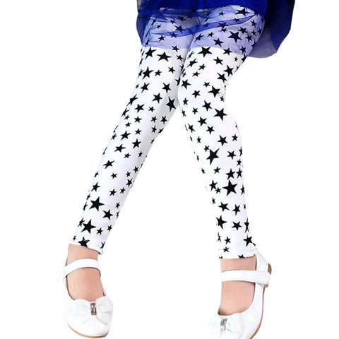 Girls Flower Print Leggings