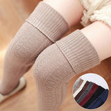 Winter Soft Cable Knit Over knee Stockings