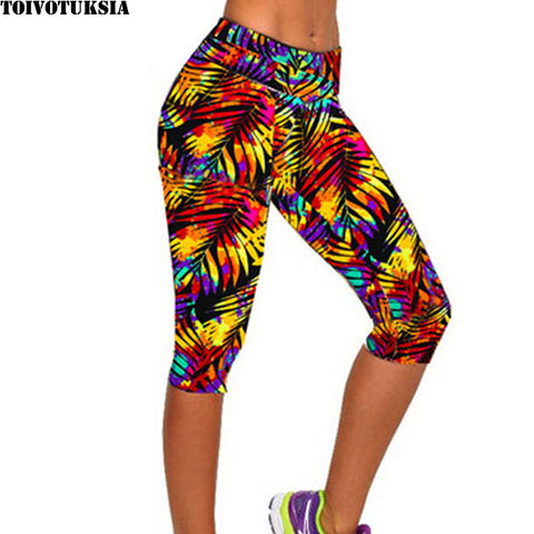 High Waist Printed Capri