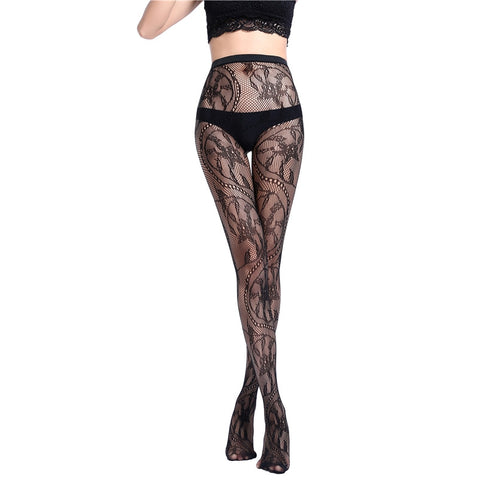 Hot Sexy Fishnet Lace Floral Stockings