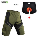 Men's Breathable Loose Fit Cycling Shorts with Zippered Pockets